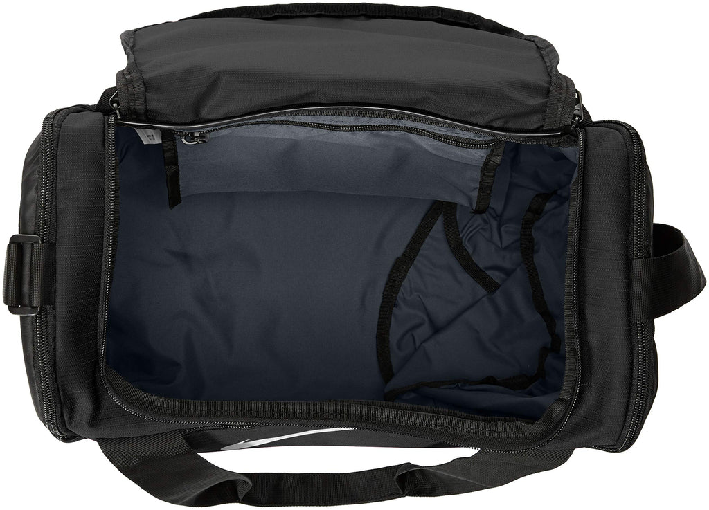 NIKE Brasilia X-Small Duffel - 9.0, Black/Black/White, Misc - backpacks4less.com