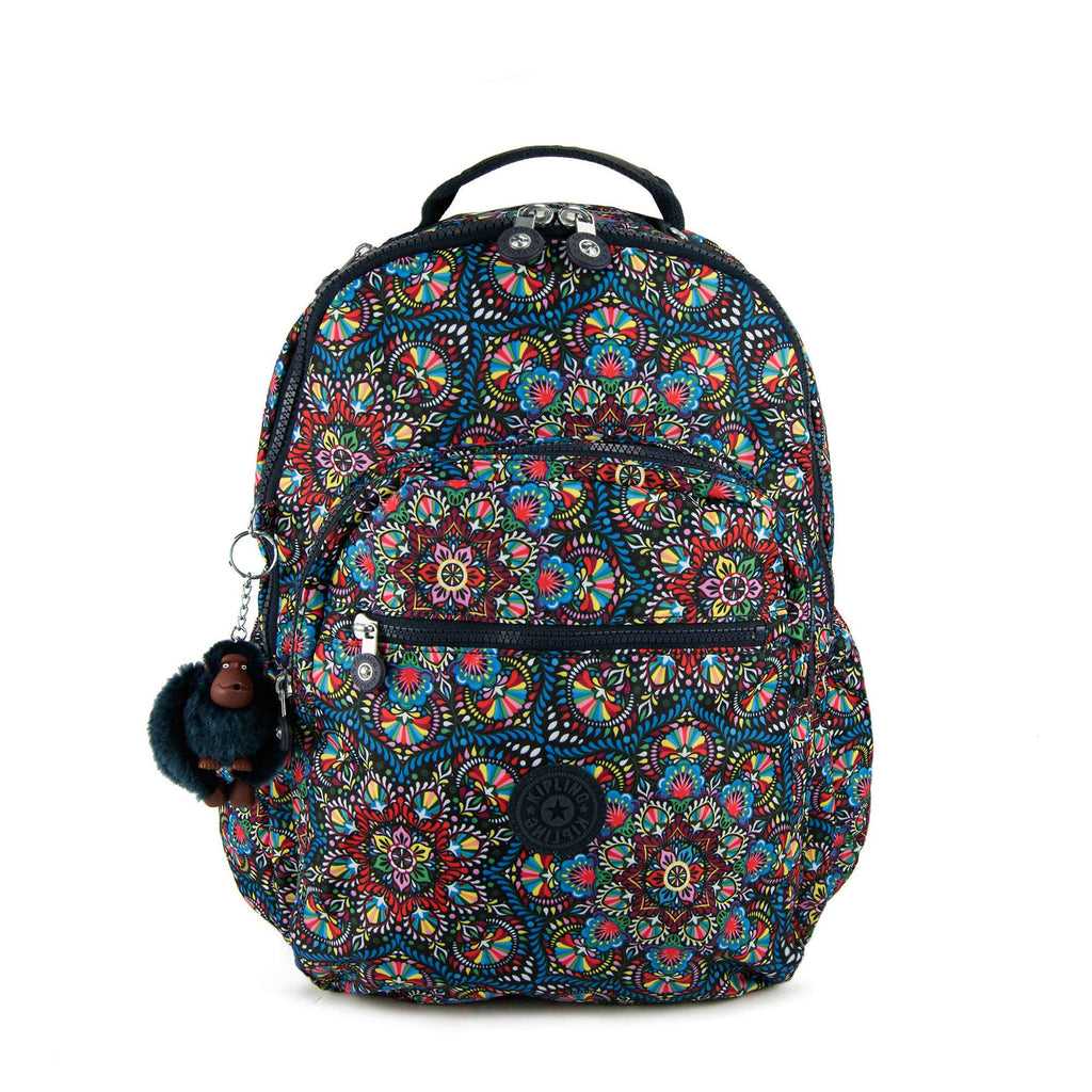 "Kipling Seoul Go Large Printed Laptop 15"" Backpack Sunshine Burst - backpacks4less.com"