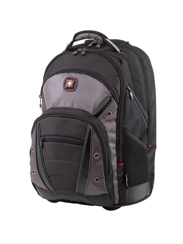 "Wenger Luggage Synergy Wheeled 16"" Laptop Backpack Bag, Black/Grey, One Size - backpacks4less.com"