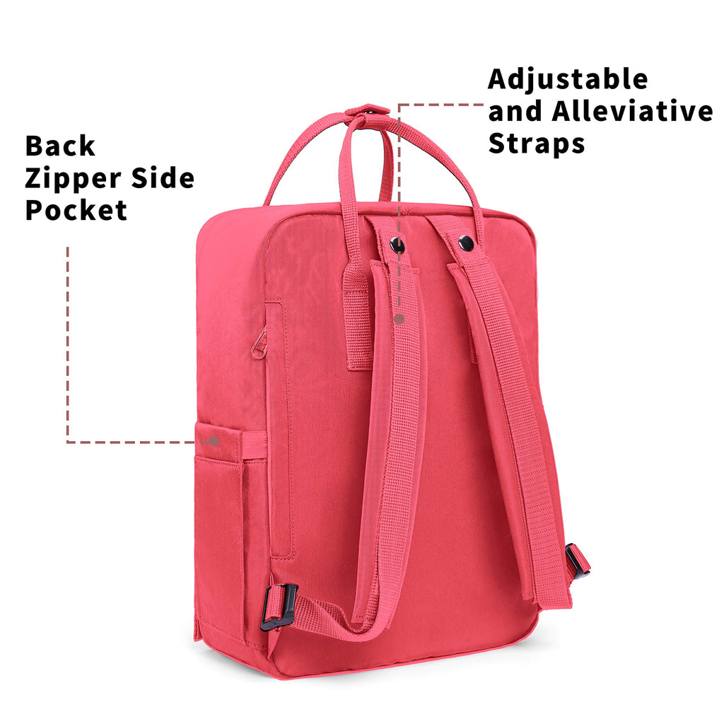 KALIDI Casual Backpack for Women,15 Inches Laptop Classic Backpack Camping Rucksack Travel Outdoor Daypack College School Bag (Peach Pink) - backpacks4less.com