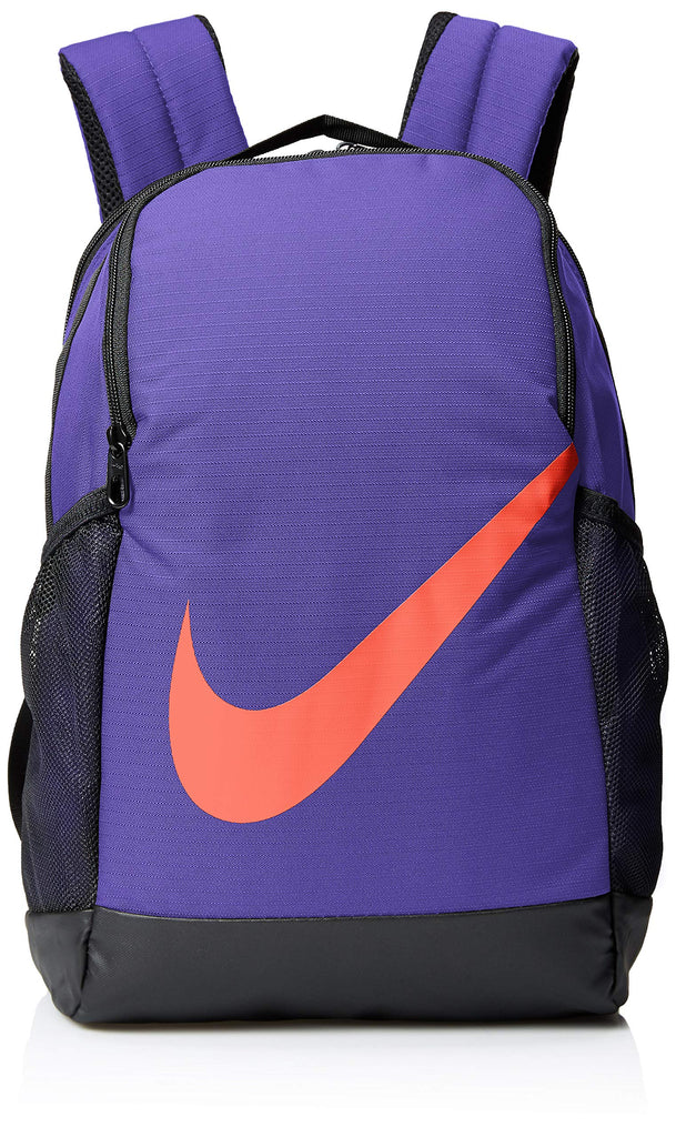 NIKE Youth Brasilia Backpack - Fall'19, Rush Violet/Black/Bright Crimson, Misc - backpacks4less.com