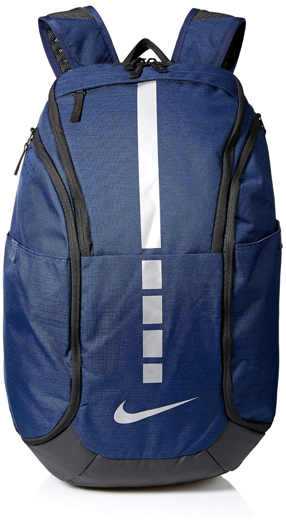 NIKE Hoops Elite Hoops Elite Basketball Backpack MIDNIGHT NAVY/BLACK/MTLC COOL GREY - backpacks4less.com
