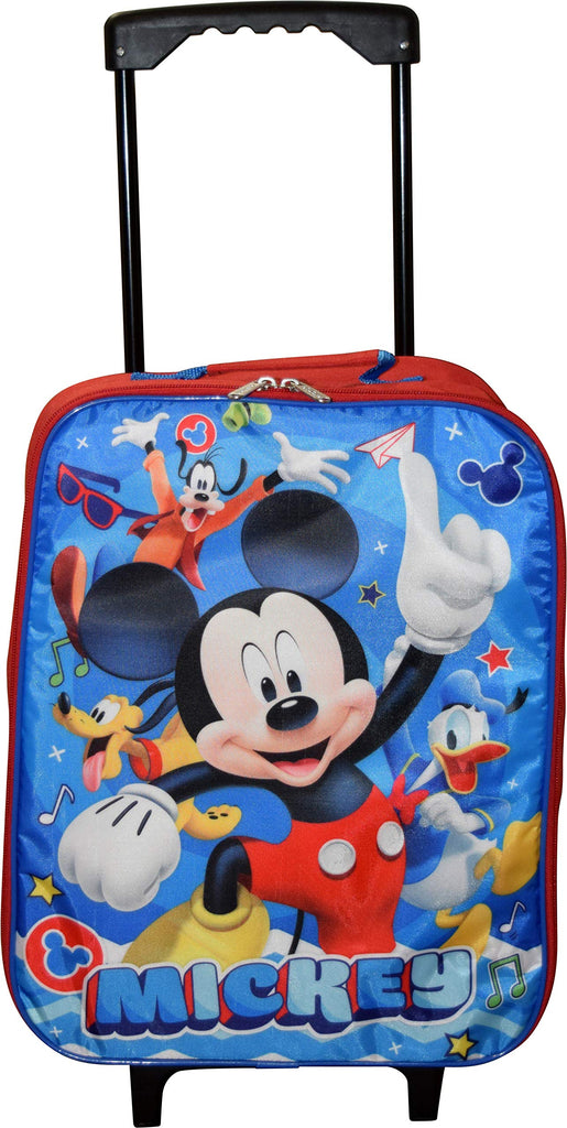 "Disney Junior Mickey And The Roadster Racers 15"" Collapsible Wheeled Pilot Case - Rolling Luggage - backpacks4less.com"