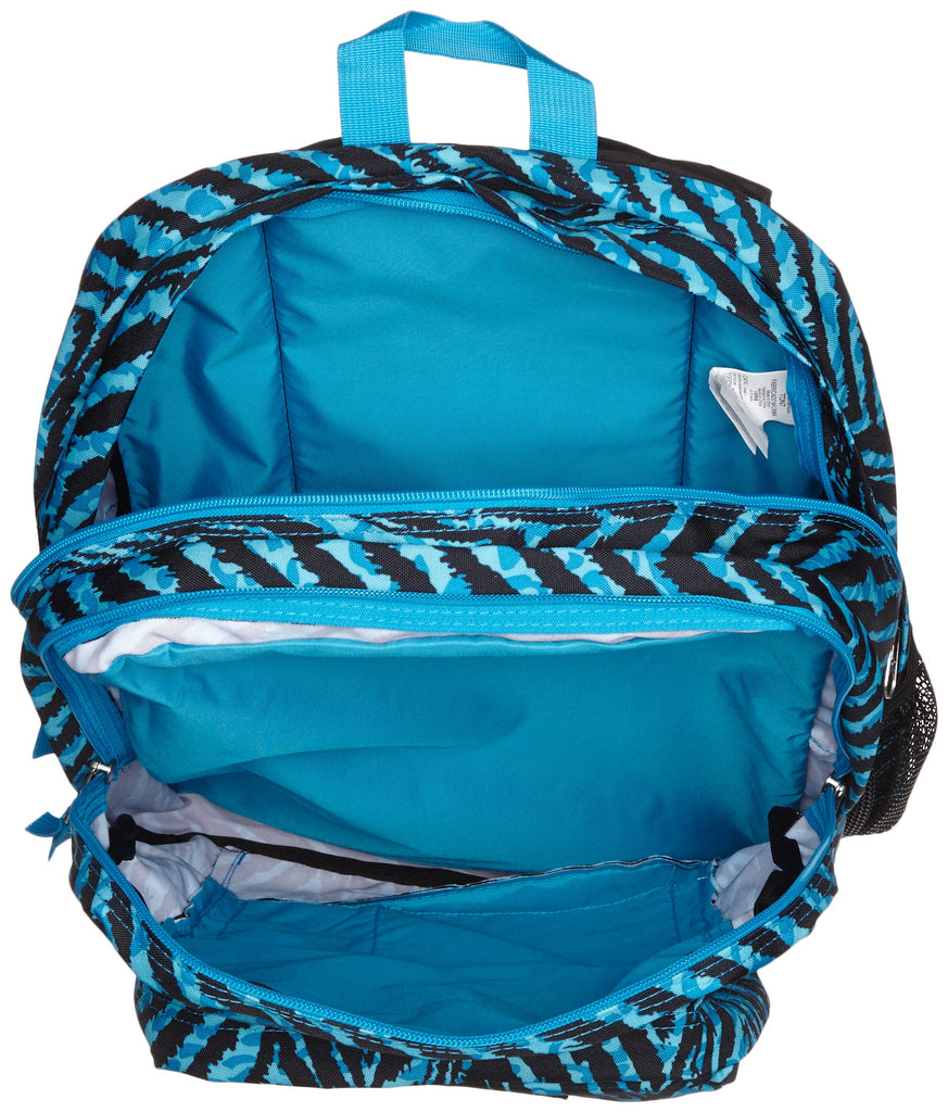 JanSport Big Student Classics Series Backpack - Mammoth Blue Wild At Heart - backpacks4less.com