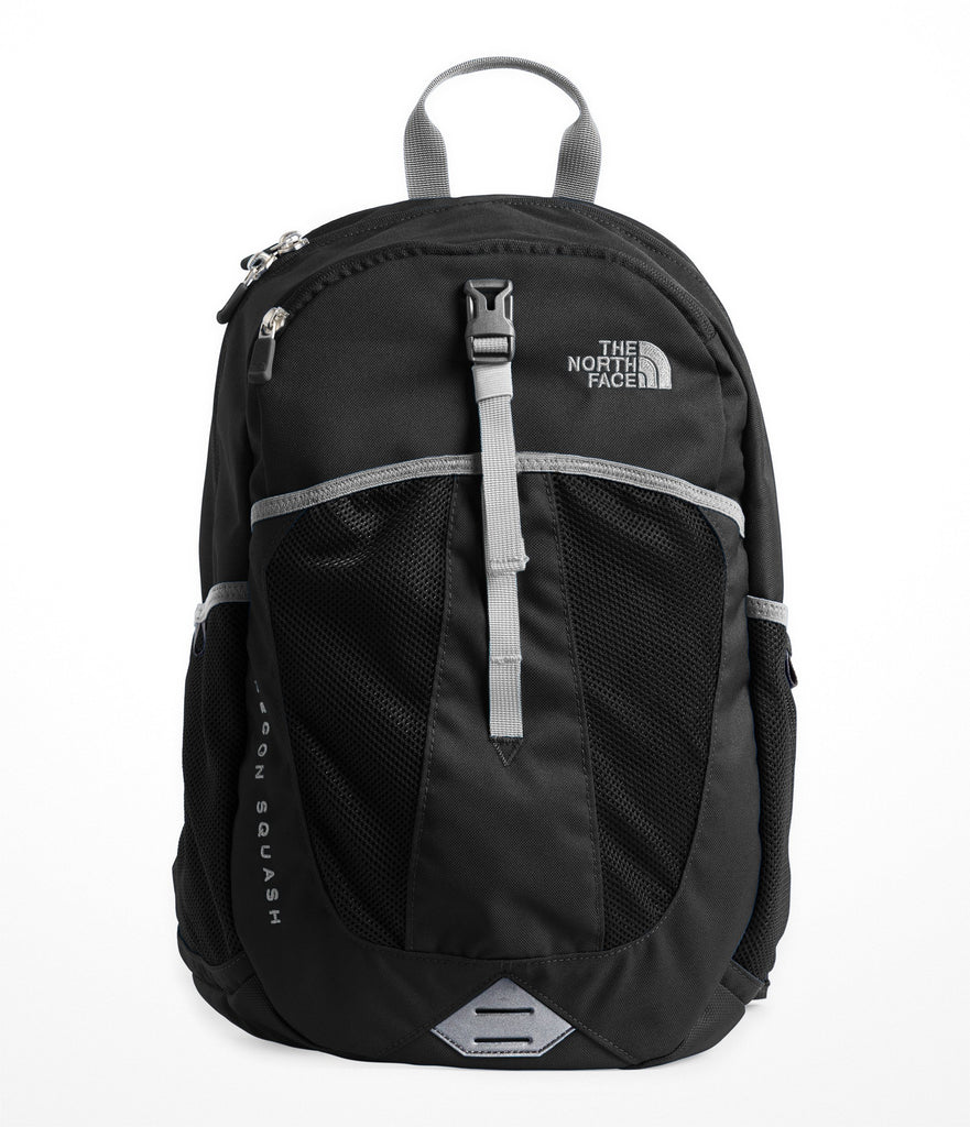 The North Face Youth Recon Squash Backpack, TNF Black/High Rise Grey, One Size - backpacks4less.com