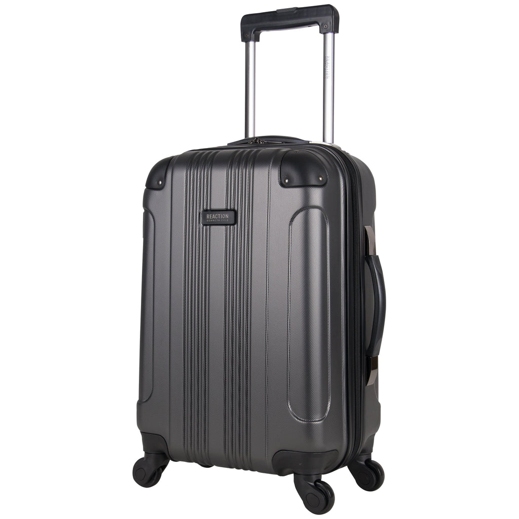 Kenneth Cole Reaction Out Of Bounds 20-Inch Carry-On Lightweight Durable Hardshell 4-Wheel Spinner Cabin Size Luggage, Charcoal - backpacks4less.com