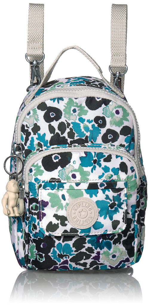 Kipling womens Alber 3-In-1 Convertible Mini Backpack, Blue field Floral, One Size - backpacks4less.com