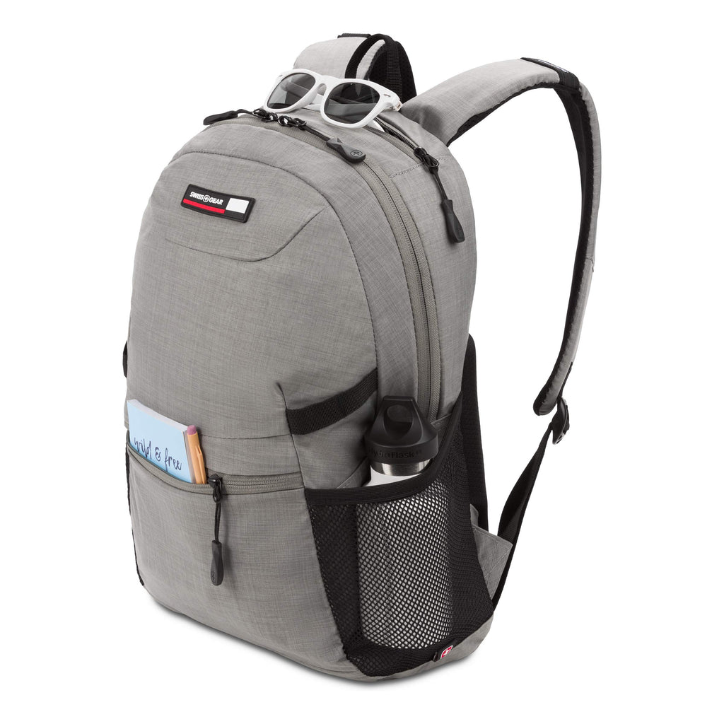 SWISSGEAR 2905 Large Laptop Backpack School Work and Travel/Light Gray - backpacks4less.com