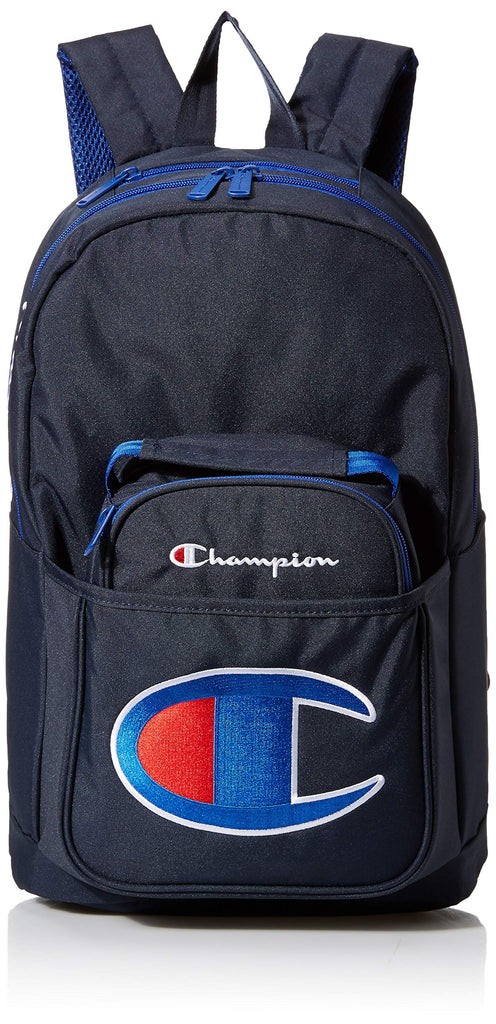 Champion Kids' Big Supercize Backpack & Lunch Kit Combo, Navy, Youth Size - backpacks4less.com