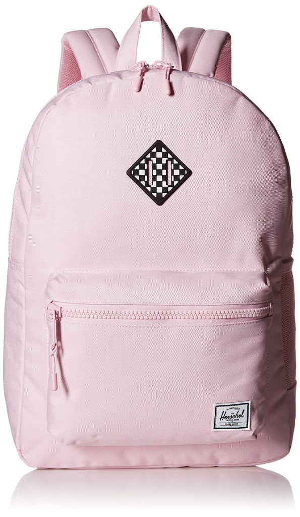 Herschel Kids' Heritage Youth XL Children's Backpack, Pink Lady Crosshatch/Checkerboard, One Size - backpacks4less.com