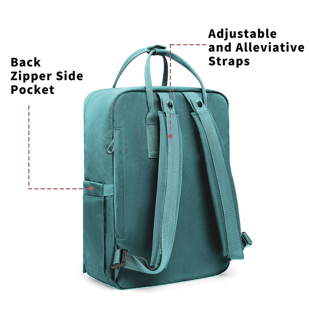 KALIDI Casual Backpack for Women,15 Inches Laptop Classic Backpack Camping Rucksack Travel Outdoor Daypack College School Bag (Frost Green) - backpacks4less.com