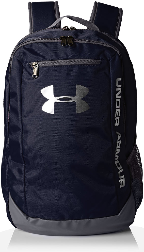 Under Armour Men's Hustle LD Water Resistant Backpack Laptop, Midnight Navy (410), One Size - backpacks4less.com