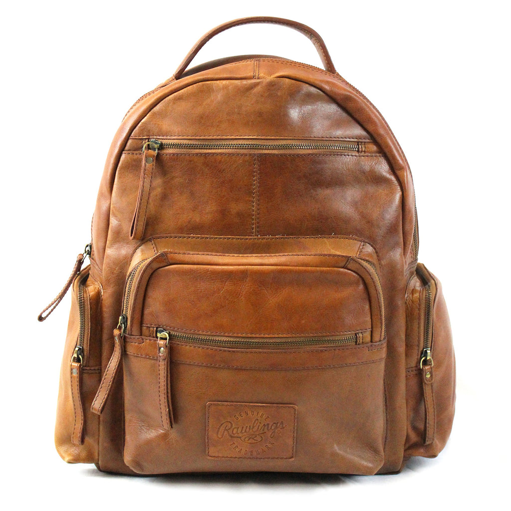 "Rawlings Heritage Collection 21"" Distressed Leather Backpack - backpacks4less.com"
