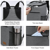 Lifewit Insulated Cooler Bag Backpack, Soft Cooler Soft-Sided Cooling Bag for Beach Picnic Camping BBQ, 24L 30-Can, Grey - backpacks4less.com