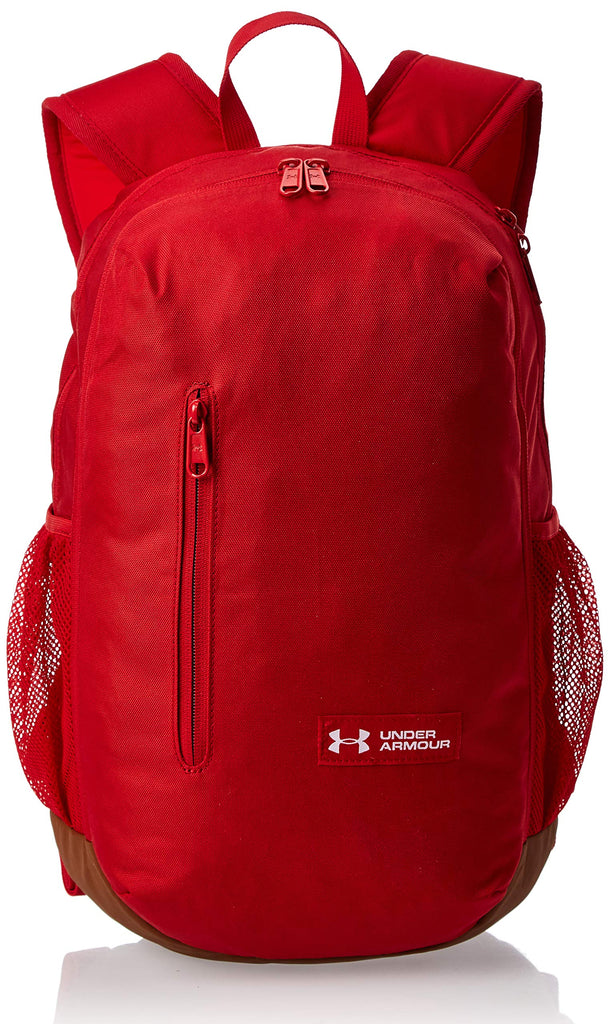 Under Armour Roland Backpack, Red (600)/White, One Size Fits All - backpacks4less.com