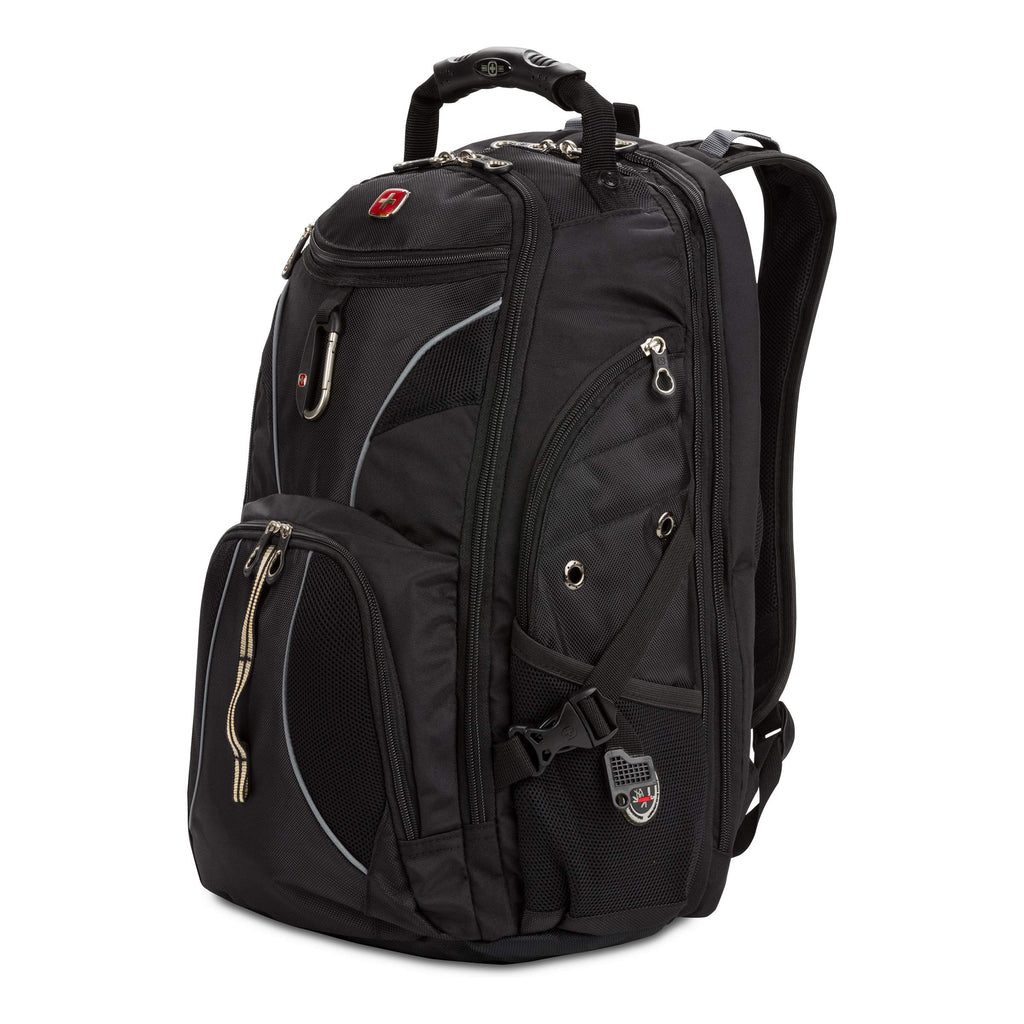 Swiss Gear SA1923 Black TSA Friendly ScanSmart Laptop Backpack - Fits Most 15 Inch Laptops and Tablets - backpacks4less.com