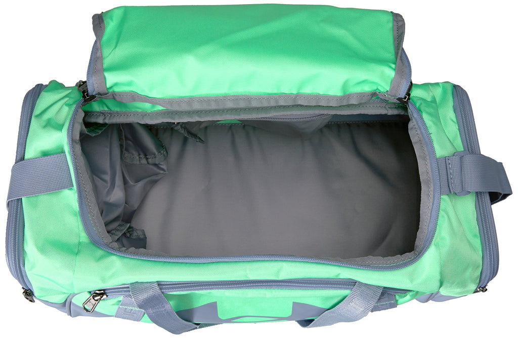 Under Armour Undeniable Duffle 3.0 Gym Bag, Green Typhoon /Washed Blue, X-Small - backpacks4less.com