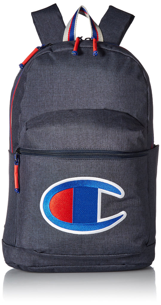 Champion Men's SuperCize Backpack, Navy Heather, OS - backpacks4less.com