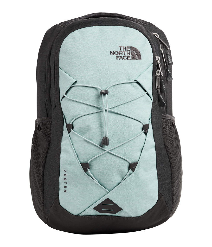 The North Face Women's Jester Backpack, Windmill Blue Splinter Light Heather/Asphalt Grey Light Heather, One Size - backpacks4less.com