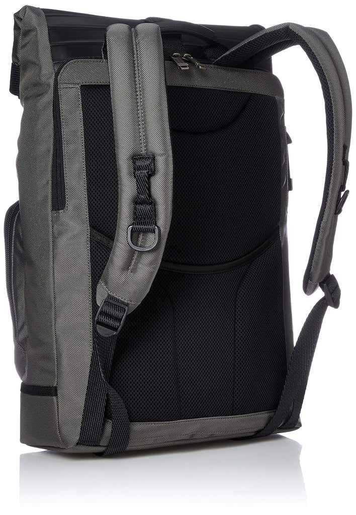 Tumi Men's Alpha Bravo London Roll Top Backpack, Grey/Embossed, One Size - backpacks4less.com
