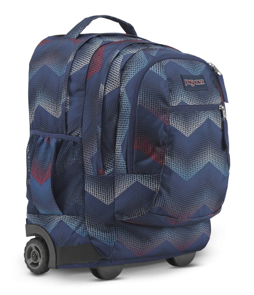JanSport JS00TN8940L Driver 8 Backpack, Matrix Chevron Navy - backpacks4less.com