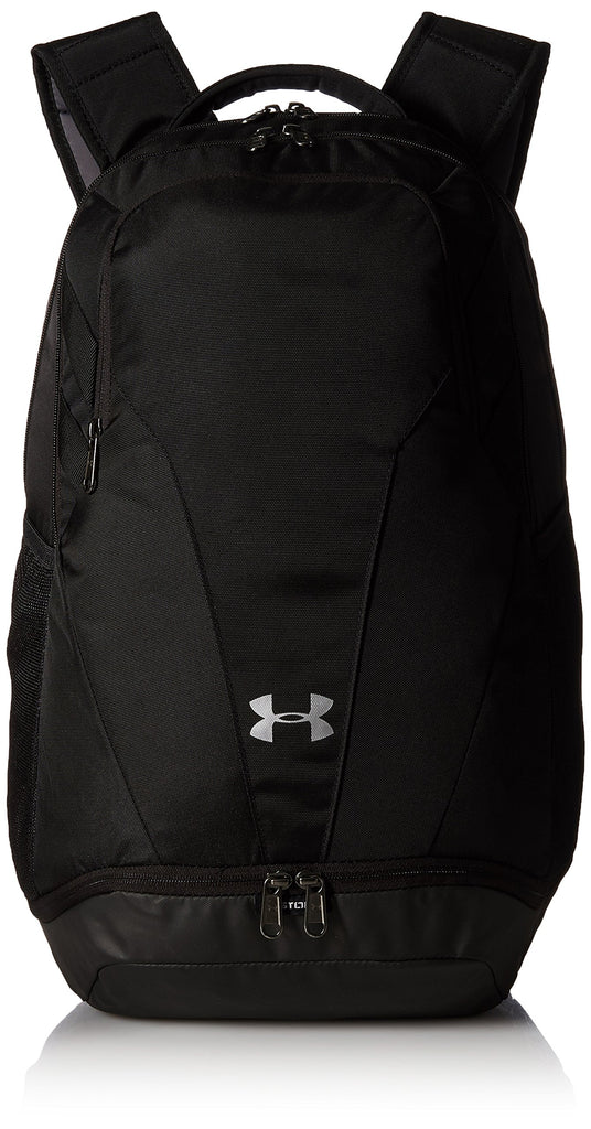 Under Armour Unisex Team Hustle 3.0 Backpack, Black (001)/Silver, One Size Fits All - backpacks4less.com