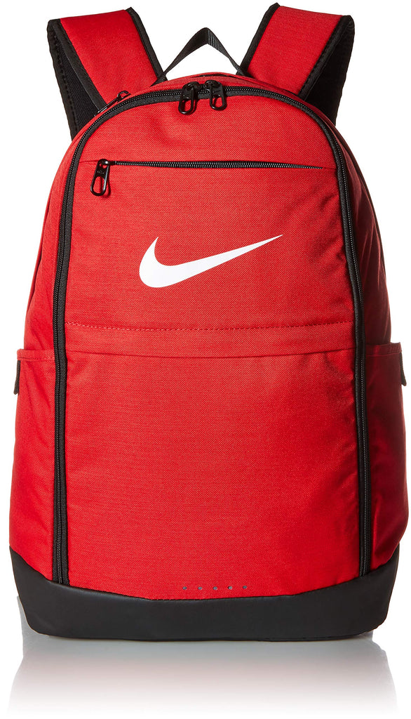 Nike Brasilia Training Backpack, Extra Large Backpack Built for Secure Storage with a Durable Design, University Red/Black/White - backpacks4less.com