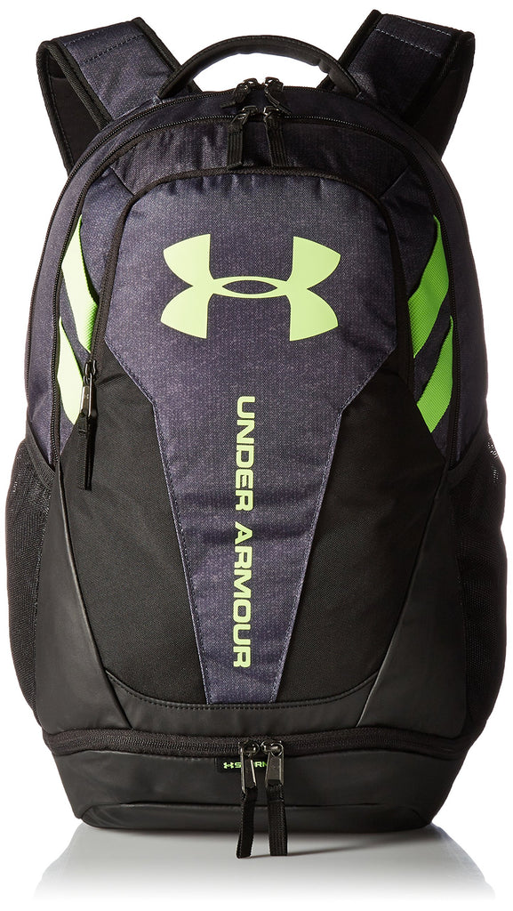 Under Armour Hustle 3.0 Backpack, Stealth Gray (008)/Quirky Lime, One Size Fits All - backpacks4less.com