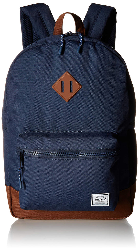 Herschel Kids' Heritage Youth XL Children's Backpack, Navy/saddle Brown, One Size - backpacks4less.com