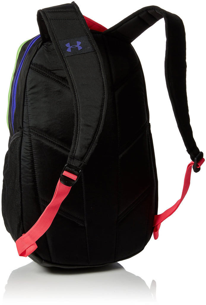 Under Armour Hustle 3.0 Backpack, Black/Black/Constellation Purple, One Size - backpacks4less.com
