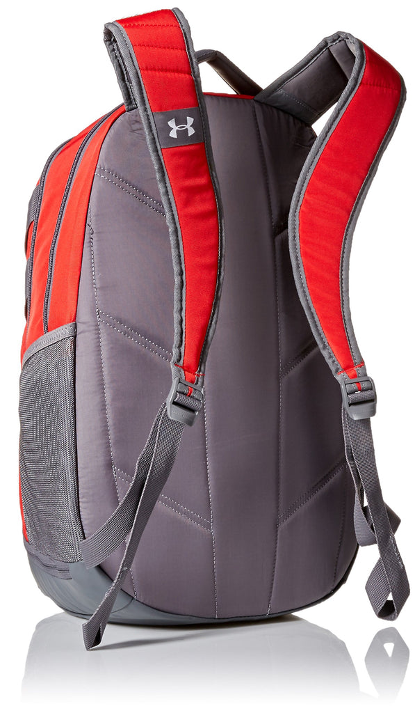 Under Armour Team Hustle 3.0 Backpack, Red (600)/Gray, One Size Fits All - backpacks4less.com