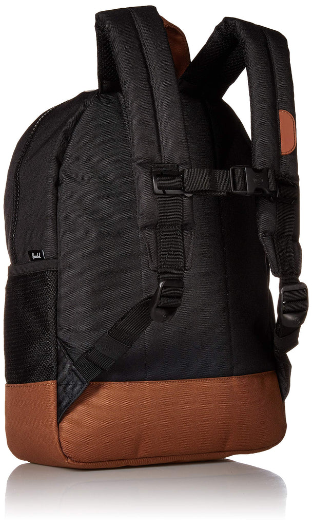 Herschel Kids' Heritage Youth Children's Backpack, Black/Saddle Brown, One Size - backpacks4less.com