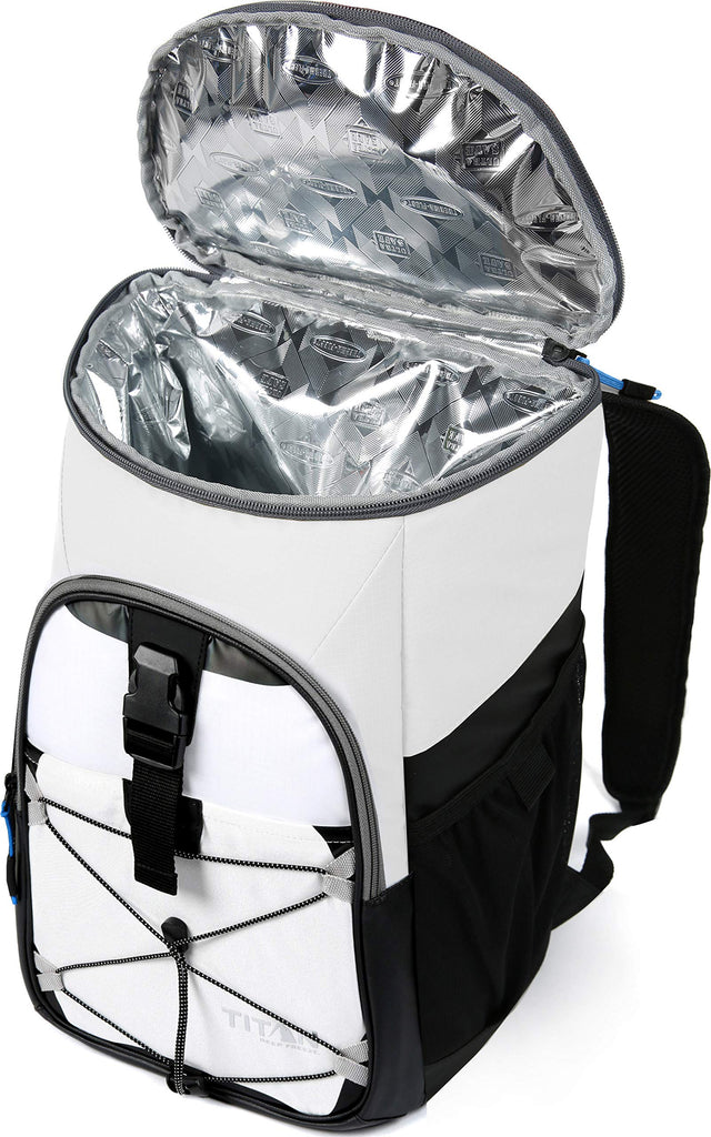 Arctic Zone Titan Deep Freeze 24 Can Backpack Cooler, White - backpacks4less.com