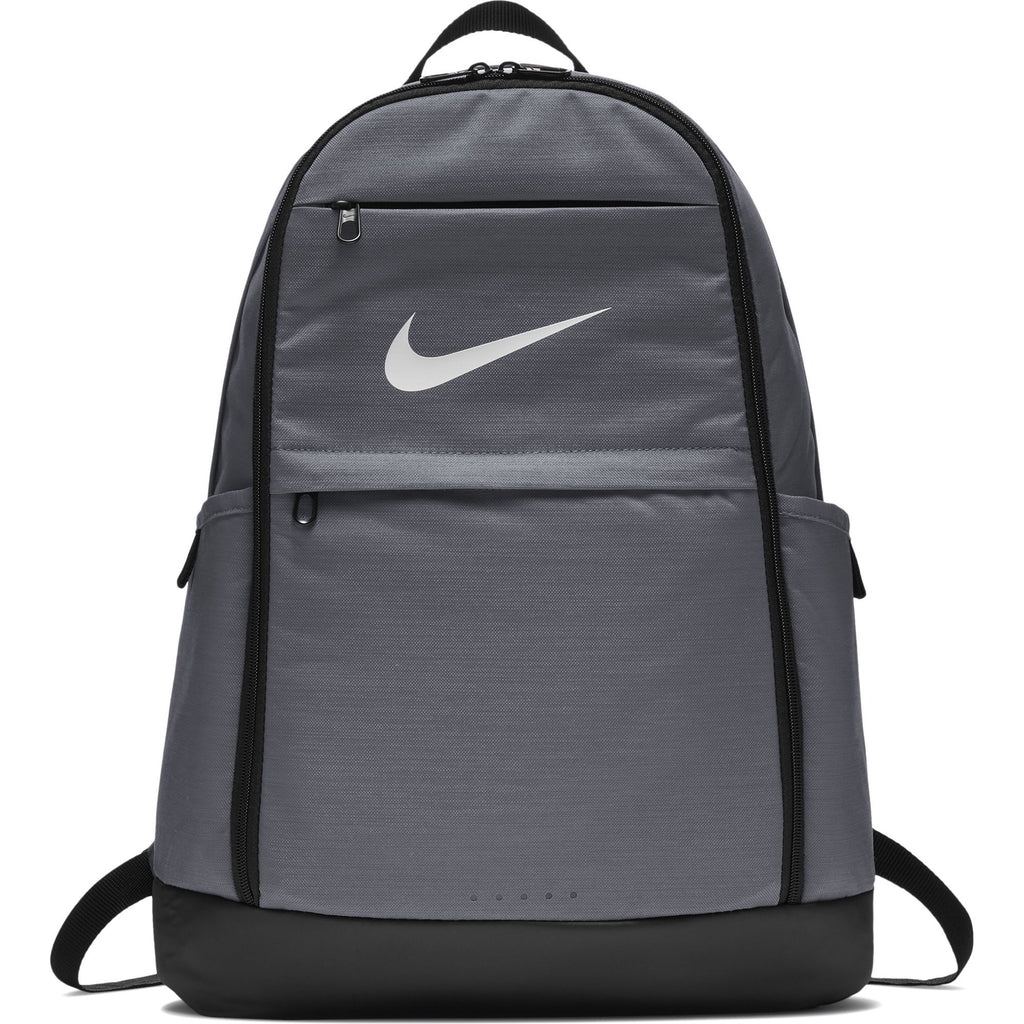Nike Brasilia Training Backpack, Extra Large Backpack Built for Secure Storage with a Durable Design, Flint Grey/Black/White - backpacks4less.com