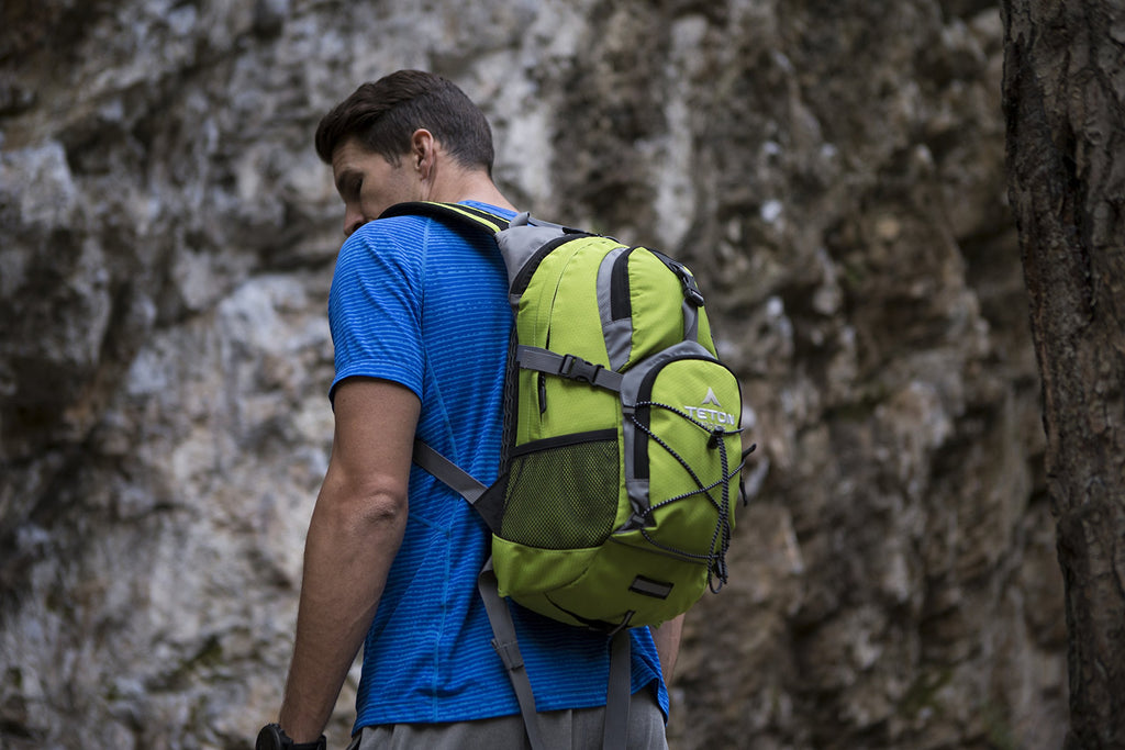 TETON Sports Oasis 1100 Hydration Pack | Free 2-Liter Hydration Bladder | Backpack design great for Hiking, Running, Cycling, and Climbing | Bright Green - backpacks4less.com
