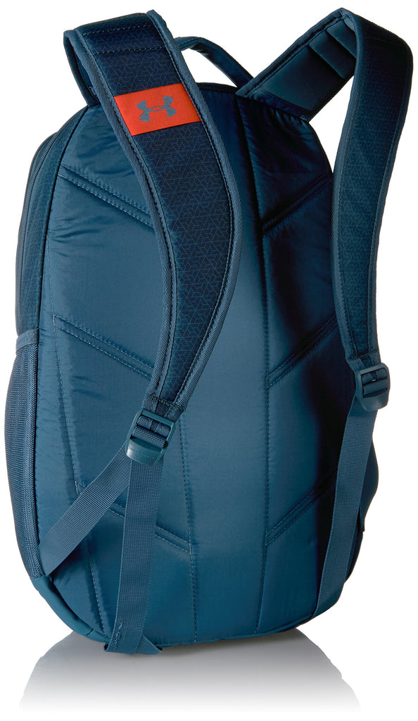 Under Armour Hustle 3.0 Backpack, Static Blue (414)/Radio Red, One Size Fits All - backpacks4less.com