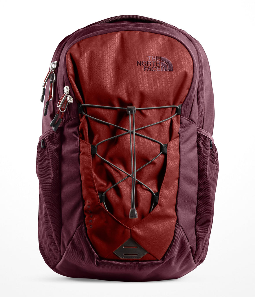 The North Face Jester Backpack, Caldera Red/Sequoia Red - backpacks4less.com