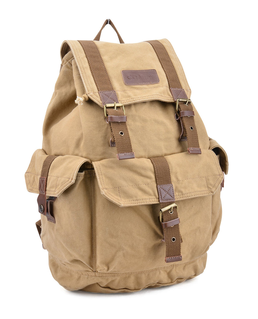 Gootium 21101KA Specially High Density Thick Canvas Backpack Rucksack,Khaki - backpacks4less.com
