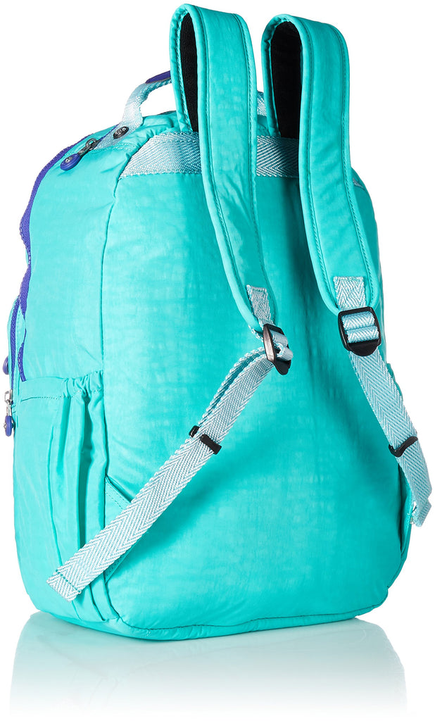 Seoul L Solid Laptop Backpack, Breezy Turquoise - backpacks4less.com