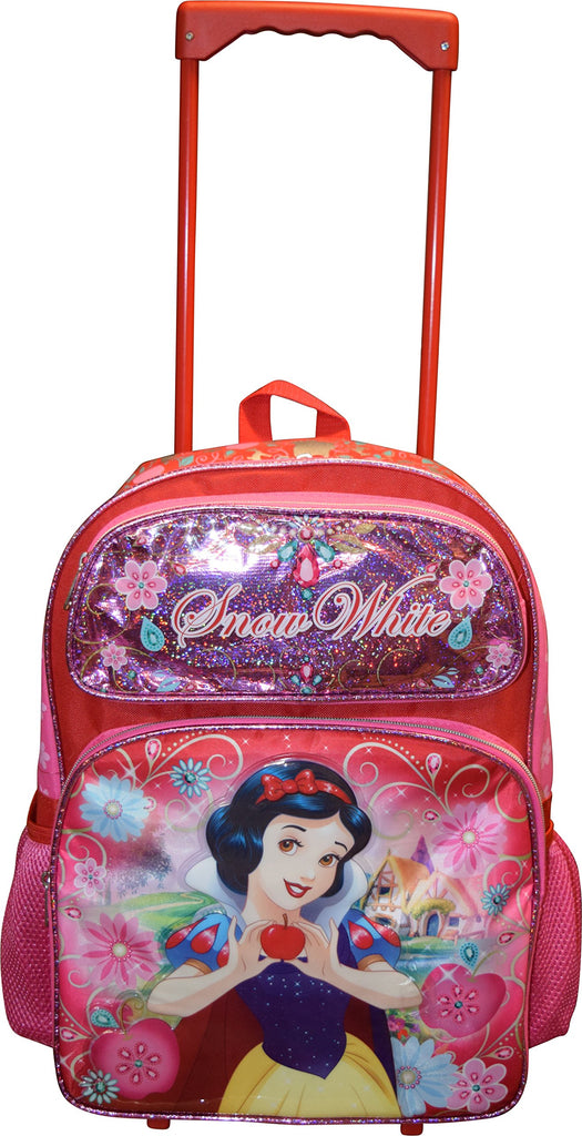 "Disney Princess Snow White 16"" Softside Rolling Luggage Wheeled Backpack - backpacks4less.com"