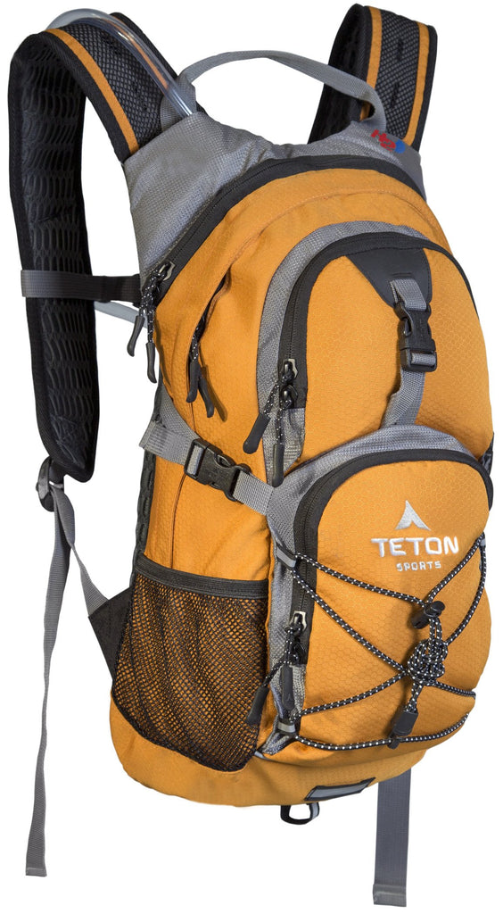 TETON Sports Oasis 1100 Hydration Pack | Free 2-Liter Hydration Bladder | Backpack design great for Hiking, Running, Cycling, and Climbing | Orange - backpacks4less.com
