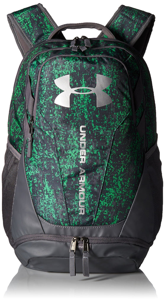 Under Armour Hustle 3.0 Backpack, Lime Twist (974)/Silver, One Size Fits All - backpacks4less.com