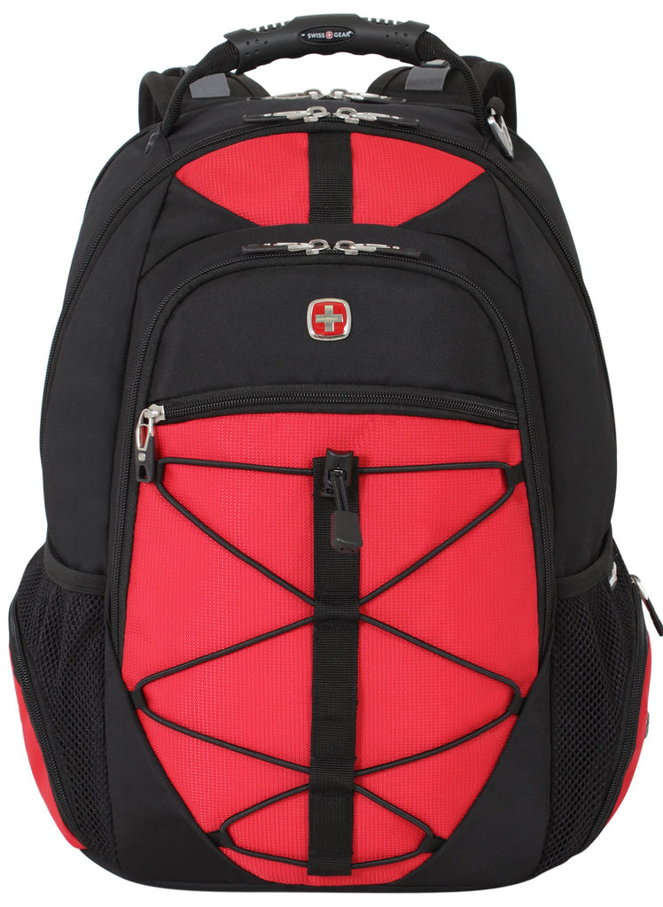 Swiss Gear SA6799 Black with Red TSA Friendly ScanSmart Laptop Backpack - Fits Most 15 Inch Laptops and Tablets - backpacks4less.com