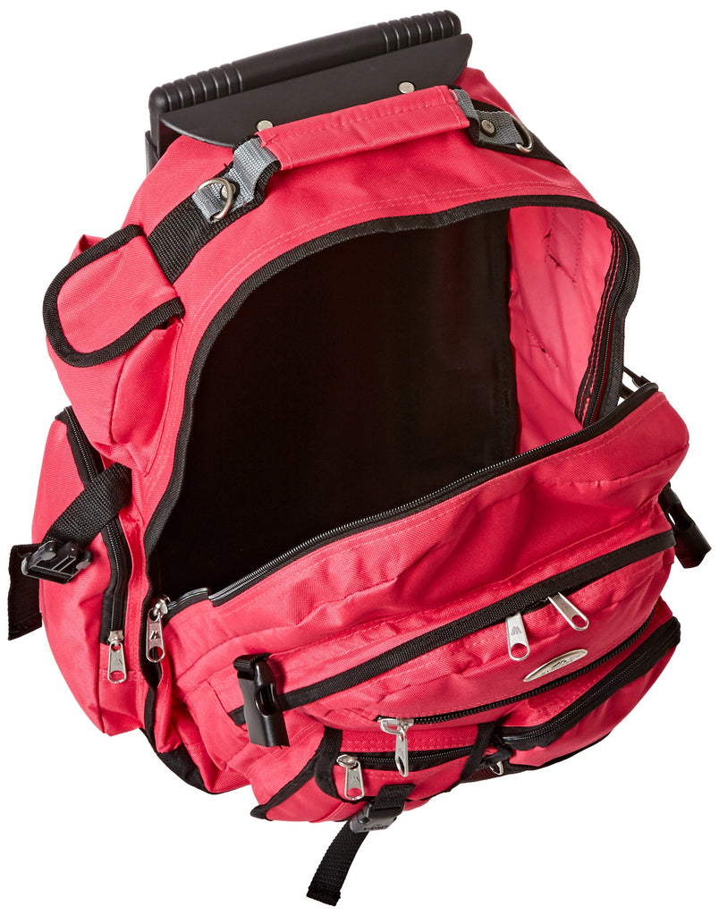 Everest Deluxe Wheeled Backpack, Hot Pink, One Size - backpacks4less.com