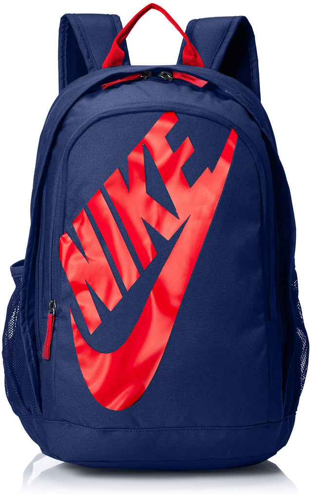 Nike Sportswear Hayward Futura Backpack for Men, Large Backpack with Durable Polyester Shell and Padded Shoulder Straps, Blue Void/University Red/University Red - backpacks4less.com