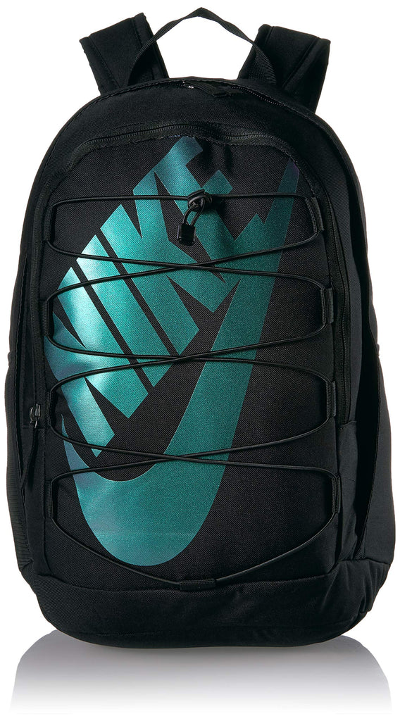 Nike Hayward 2.0 Backpack, Nike Backpack for Women and Men with Polyester Shell & Adjustable Straps, Black/Black/Metallic Silver - backpacks4less.com