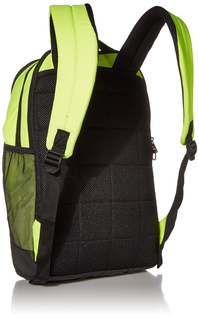 Nike Brasilia Medium Training Backpack, Nike Backpack for Women and Men with Secure Storage & Water Resistant Coating, Volt/Black/White - backpacks4less.com