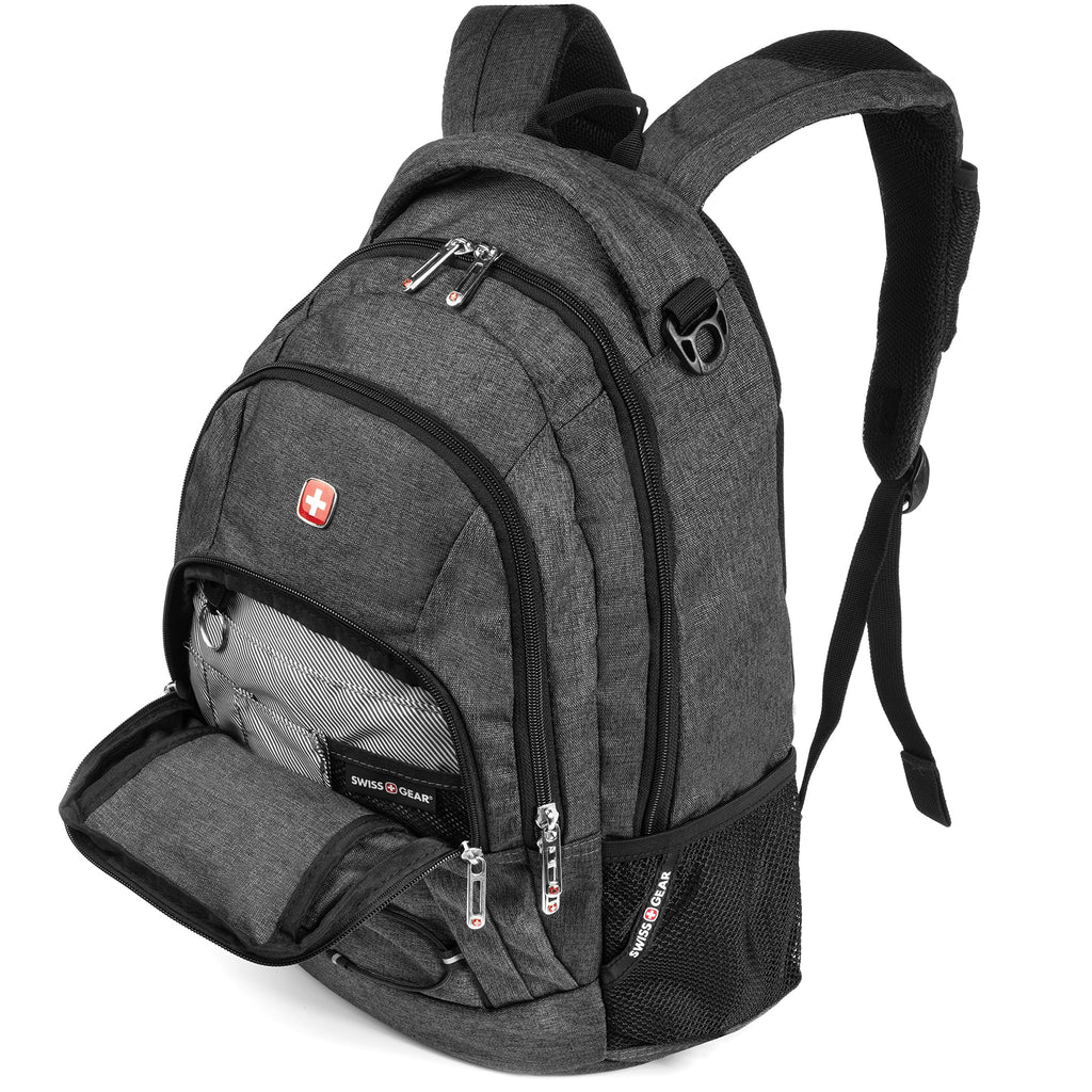 SWISSGEAR 1186 Laptop Backpack (Heather Gray) - backpacks4less.com