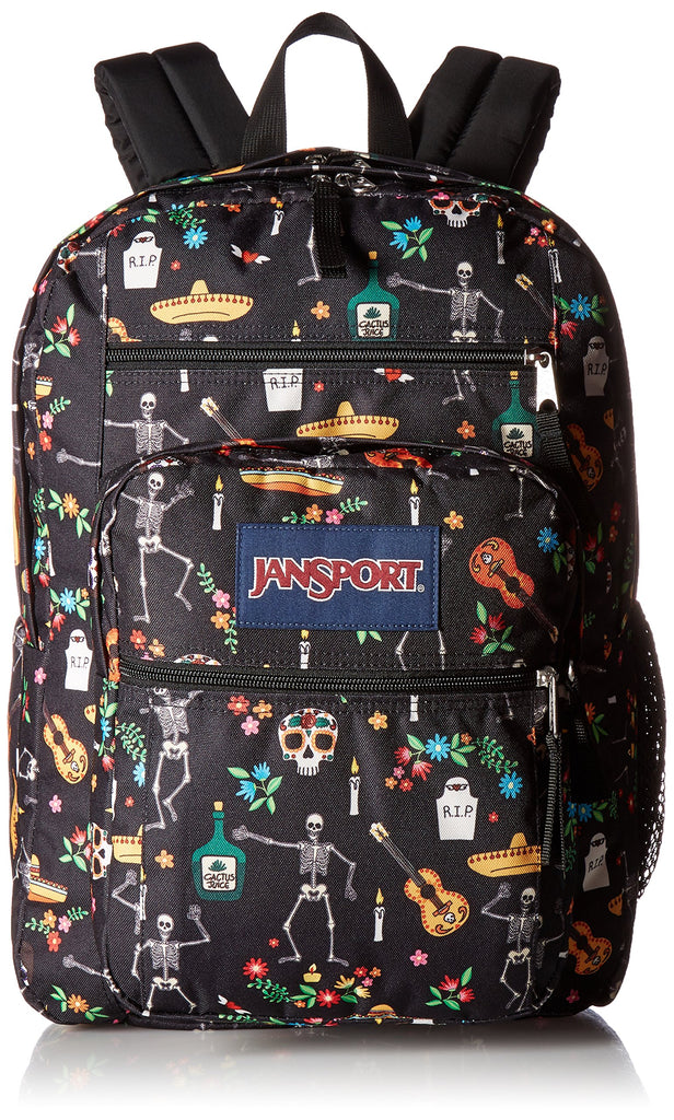 JanSport Big Student Backpack- Sale Colors (Day of the Dead) - backpacks4less.com