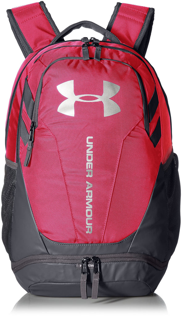 Under Armour Hustle 3.0 Backpack, Tropic Pink (654)/Silver, One Size Fits All - backpacks4less.com